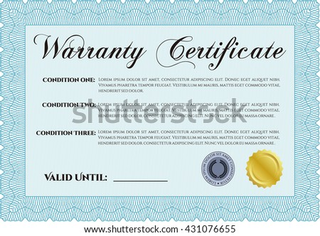 Warranty template warranty certificate stock vector 391304044 sample warranty certificate template vector illustration with guilloche pattern elegant design yelopaper Choice Image