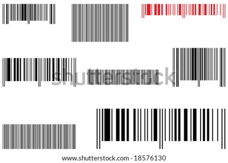 Samples selling barcode. Vector illustration. - stock vector