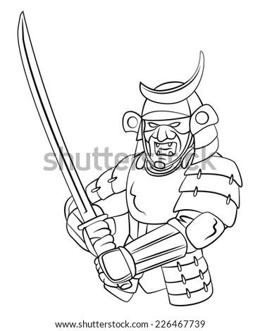 Samurai Warrior - stock vector