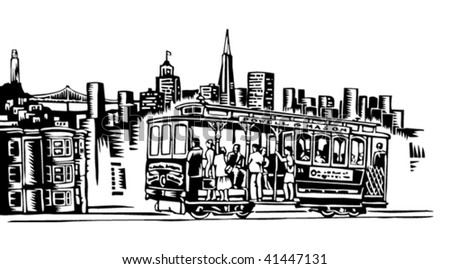 San Francisco - stock vector