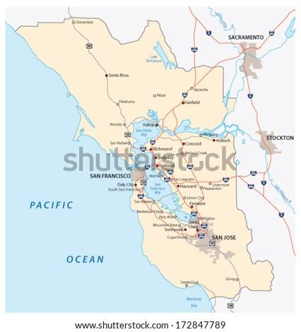 San Francisco bay area - stock vector