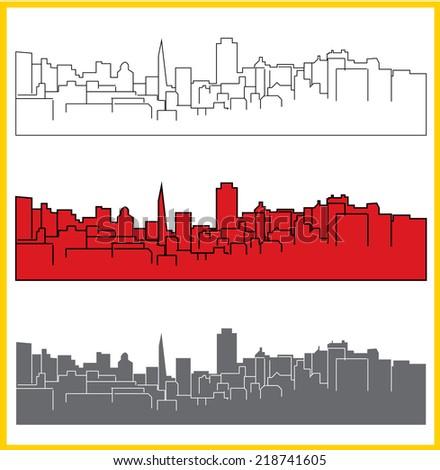 San Francisco cityscape - stock vector
