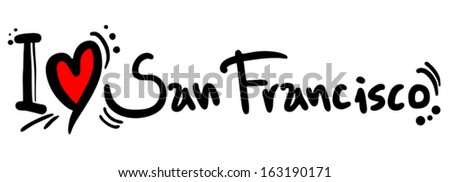 San Francisco love - stock vector