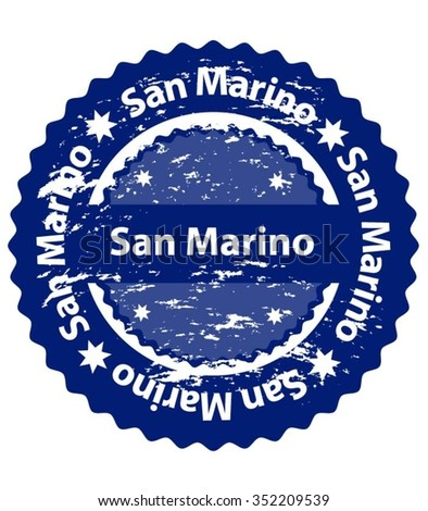 San Marino Country Grunge Stamp - stock vector
