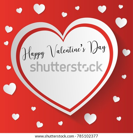 San Valentineu0027s Day Card With Space For Text For Write Love Card