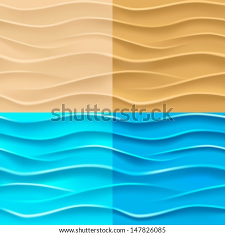 Sand and water background. Seamless texture. Mesh. Vector eps 10. - stock vector