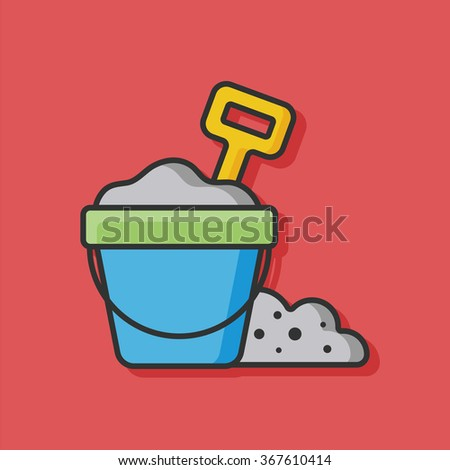 Sand Bucket Vector Icon