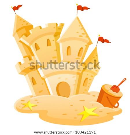 Sand castle - stock vector