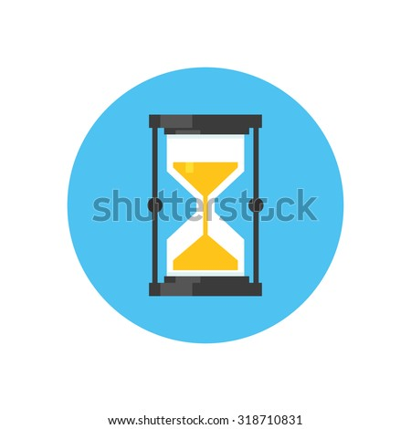 sand clock icon - stock vector