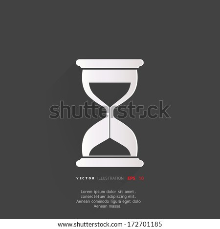 Sand clock icon. Glass timer symbol - stock vector