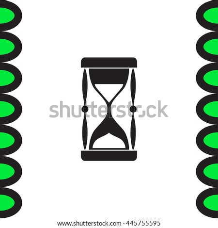 Sand clock vector icon. Hourglass sign. Sand glass symbol