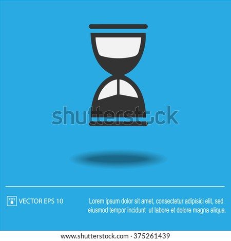 Sand clock vector icon.Isolated vector illustration EPS 10. - stock vector