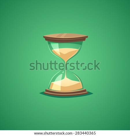 Sand watch. Isolated object \ background. - stock vector