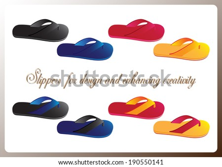 Sandal vector for your design on colorful background