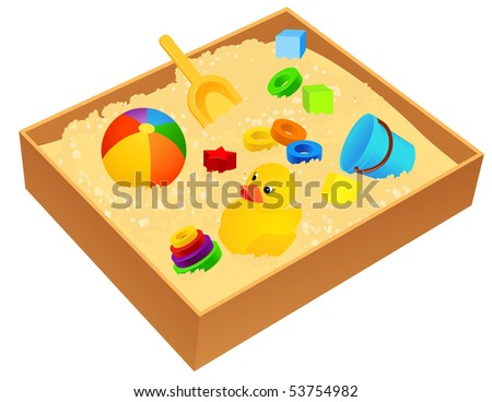 Sandbox, vector illustration - stock vector