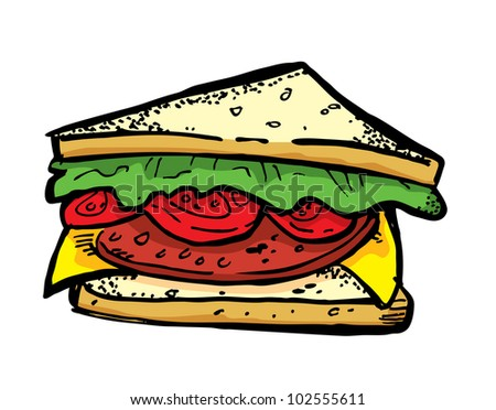 sandwich - stock vector