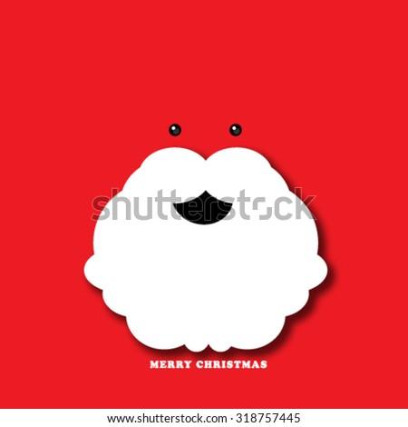Santa Beard Christmas Background - stock vector