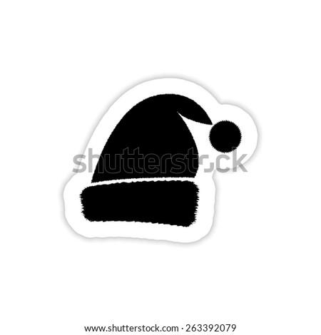 Santa cap Christmas hat - stock vector