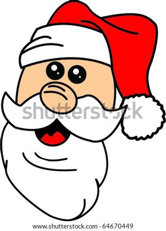 Santa Cartoon - stock vector