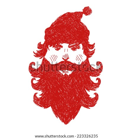 Santa Claus abstract isolated on a white backgrounds, vector illustration - stock vector