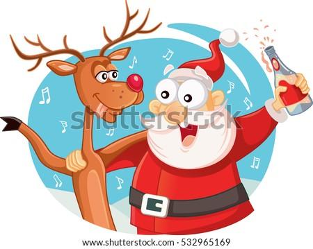 Santa Drinking Stock Photos, Royalty-Free Images & Vectors ...