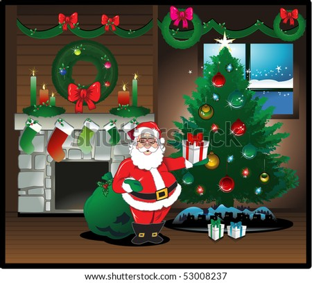 Santa claus background greeting card