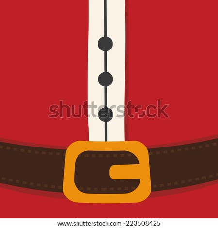 santa claus belt merry christmas - stock vector