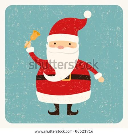Santa Claus card - stock vector