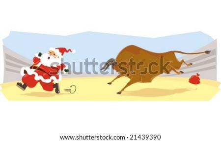 Santa Claus cartoon - stock vector