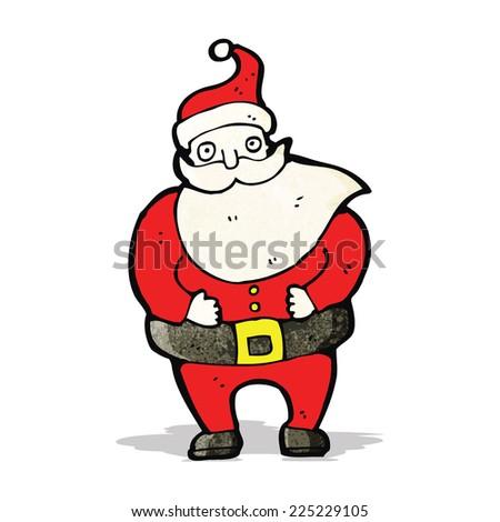 santa claus cartoon character - stock vector