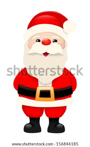 Santa Claus, cartoon character, isolated on white background, vector illustration, eps 10, with transparency