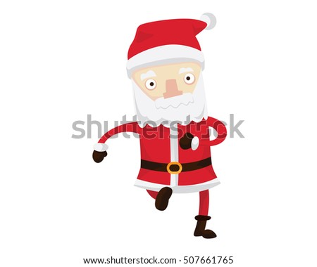 Santa Claus Character - Late For Christmas