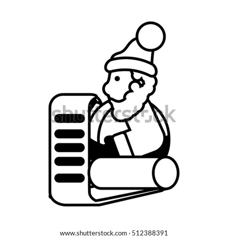 santa claus christmas character icon vector illustration design