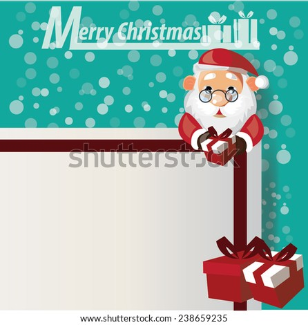 Santa Claus,Christmas sale,free,shopping vector - stock vector