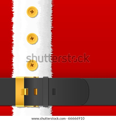 Santa Claus costume with belt. Vector. - stock vector