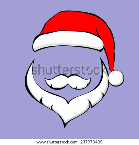 Santa Claus face, vector illustration - stock vector