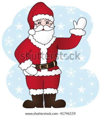Santa claus gesture. Vector Illustration IV. - stock vector