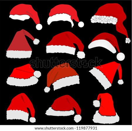 Santa Claus Hat - stock vector