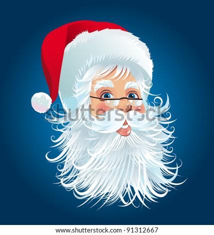 Santa Claus head - stock vector