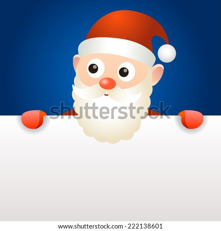 Santa Claus holding blank page - stock vector