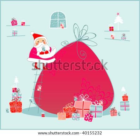 Santa Claus House - stock vector