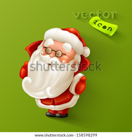 Santa Claus icon - stock vector
