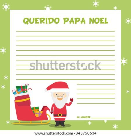 Santa Claus Letter Template Vector Illustration Stock Vector - Santa claus letter template