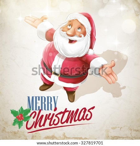 santa claus snow - stock vector