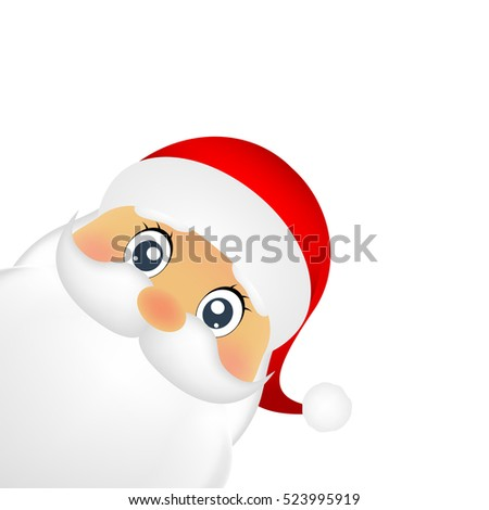 Santa Claus standing on a white background, vector