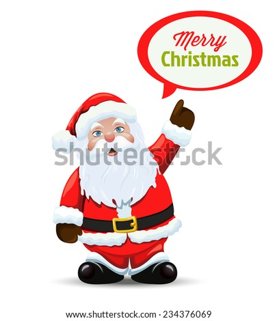 Santa Claus . Vector  - stock vector