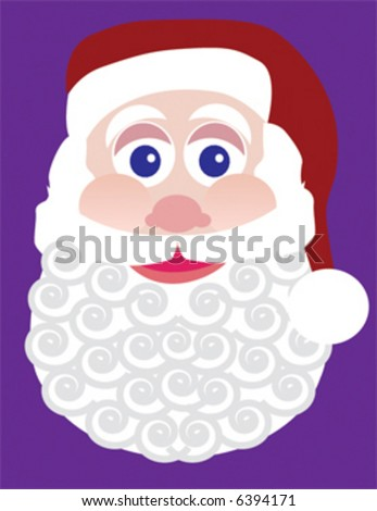 Santa Claus with a swirly beard - stock vector