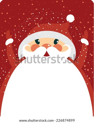Santa Claus with copy space - stock vector