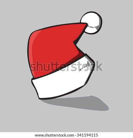 Santa hat, vector illustration. - stock vector