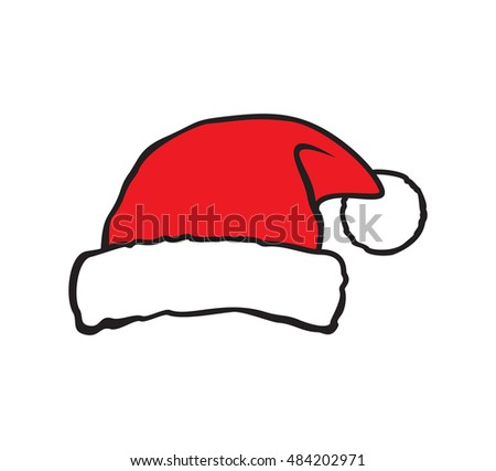 Santa hat vector illustration